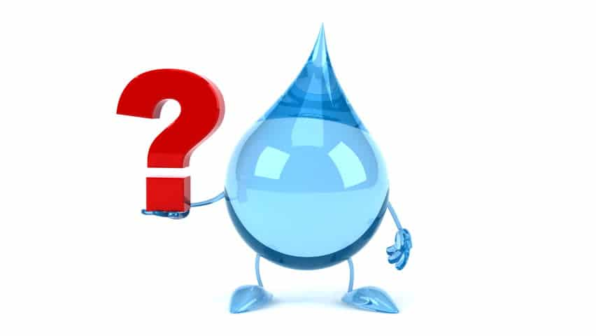 Gota de agua con interrogante